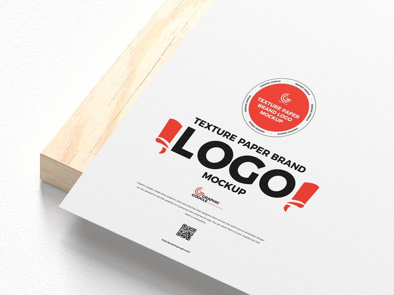 Free Texture Paper Brand Logo Mockup PSD