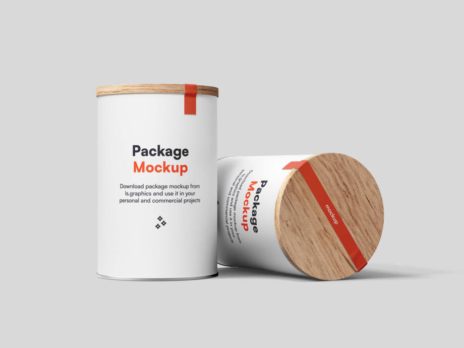 Free Two Tin Can Mockups PSD Template
