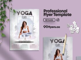 Free Yoga Day Flyer PSD Template