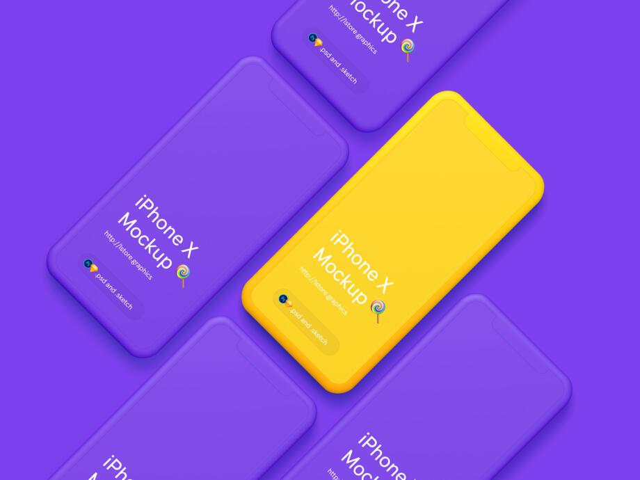 Free iPhone X Mockups PSD