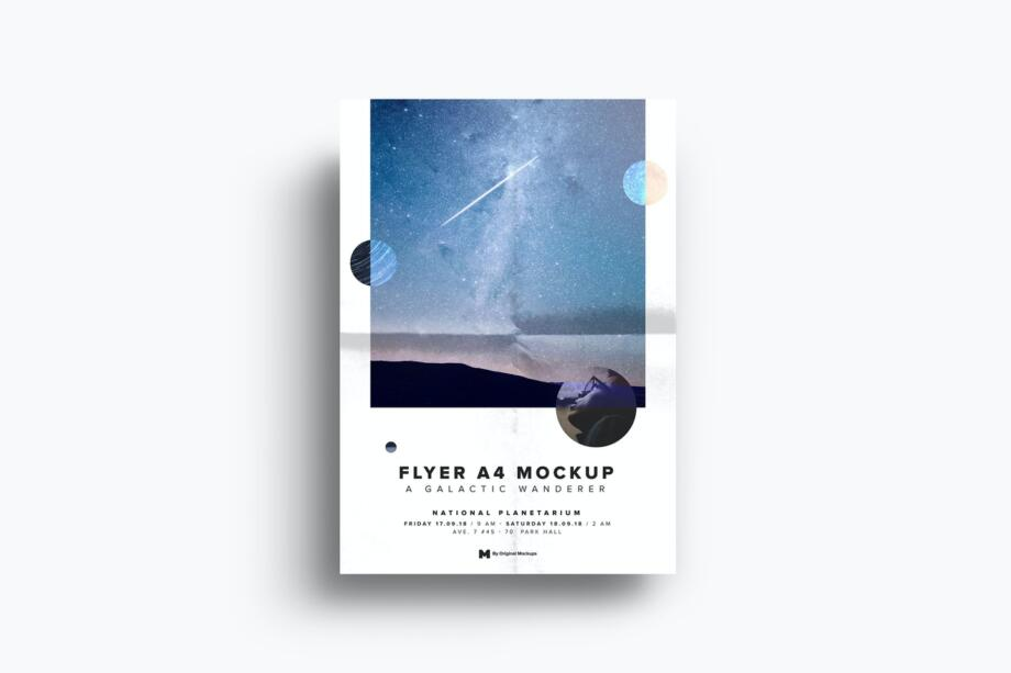 Free A4-A5 Flyer Mockup PSD Template
