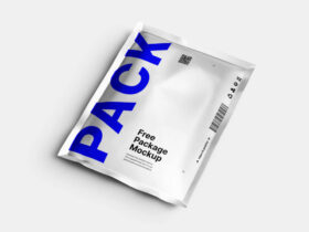 Free Aluminum Pouch Package Mockup PSD Template