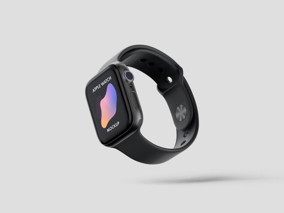 Free Apple Watch Mockup PSD Template
