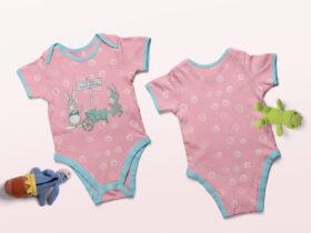 Free Baby Onesie Mockup PSD Template