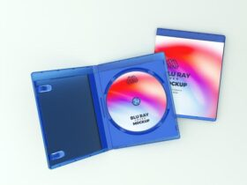 Free Blu Ray Cover PSD Mockup Template