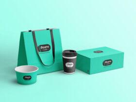 Free Cafe Branding Mockup PSD Template