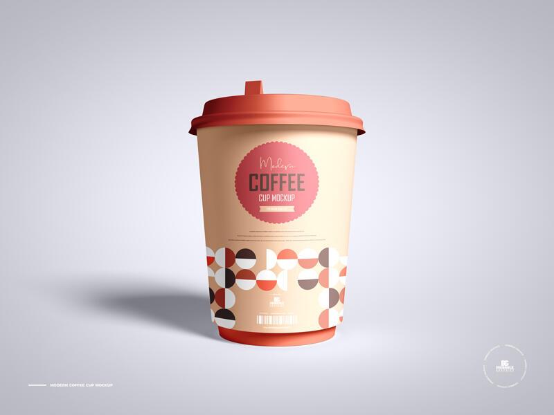 Free Coffee Cup Mockup PSD Template