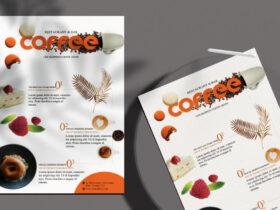 Free Coffee Menu PSD Flyer Template