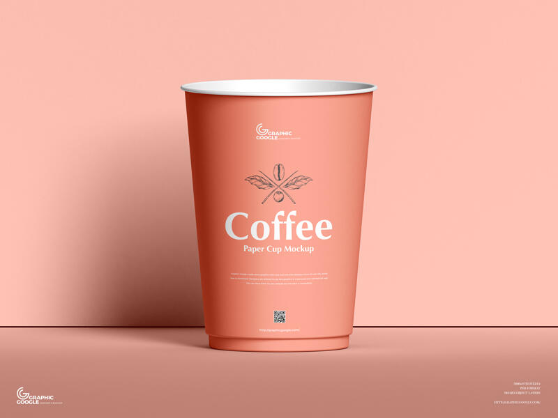 Free Coffee Paper Cup Mockup PSD Template