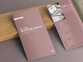 Free DL Size Brochure Mockup PSD Template