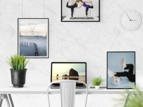 Free Desk Scene Creator Mockup PSD Template