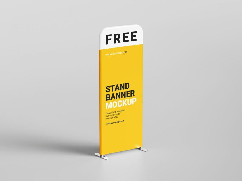 Free Display Stand Mockup PSD Template