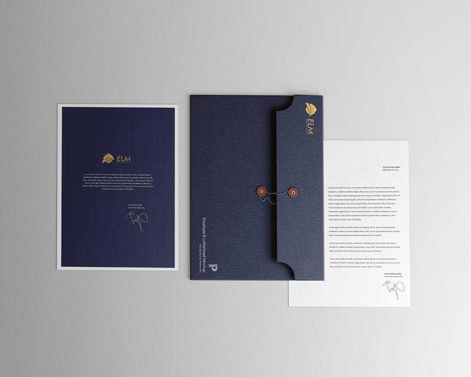 Free Envelope with Letterhead Mockup PSD Template
