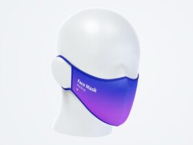 Free Face Mask Mockup PSD Template