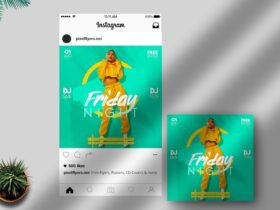 Free Friday Night PSD Instagram Template