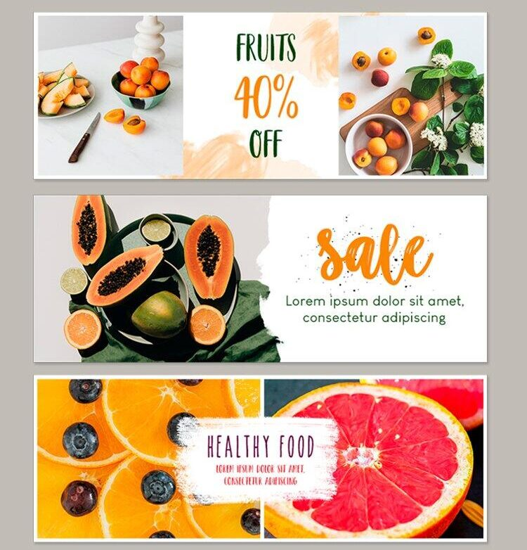 Free Fruits Facebook ADS PSD Template
