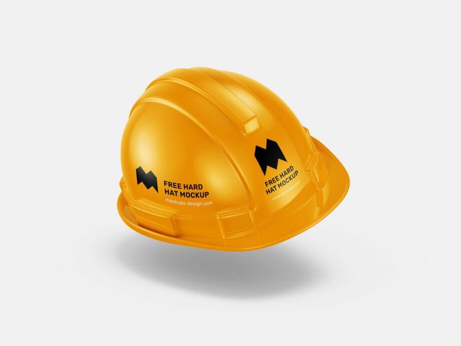 Free Hard Hat Mockup PSD Template
