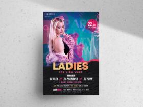 Free Ladies Week Party PSD Flyer Template