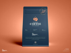 Free Packaging Coffee Pouch Mockup PSD Template