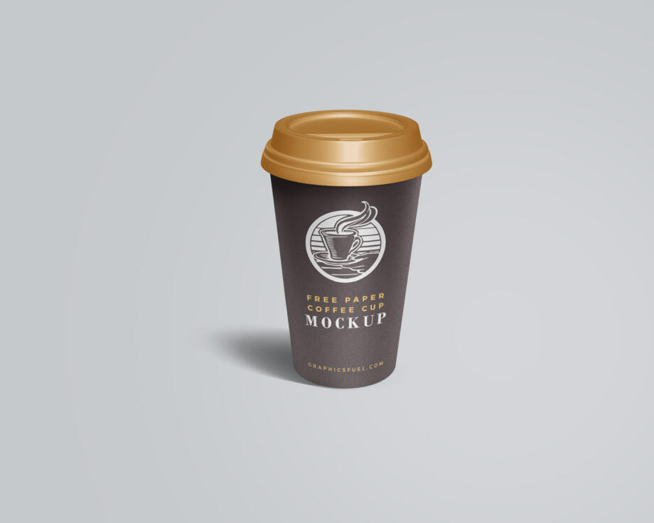 Free Paper Coffee Cup Mockup PSD Template