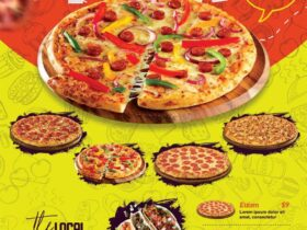 Free Pizza Shop Flyer PSD Template