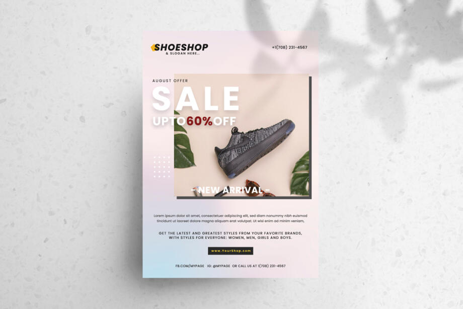 Free Sale Shoes PSD Flyer Template