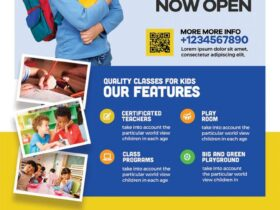 Free School Admission Open AD Flyer PSD Template
