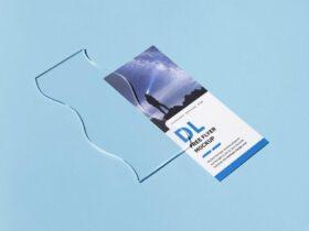 Free Single 3,5x8,5 in Flyer Mockup PSD Template