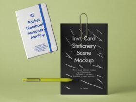 Free Stationery Notebook Mockup PSD Template