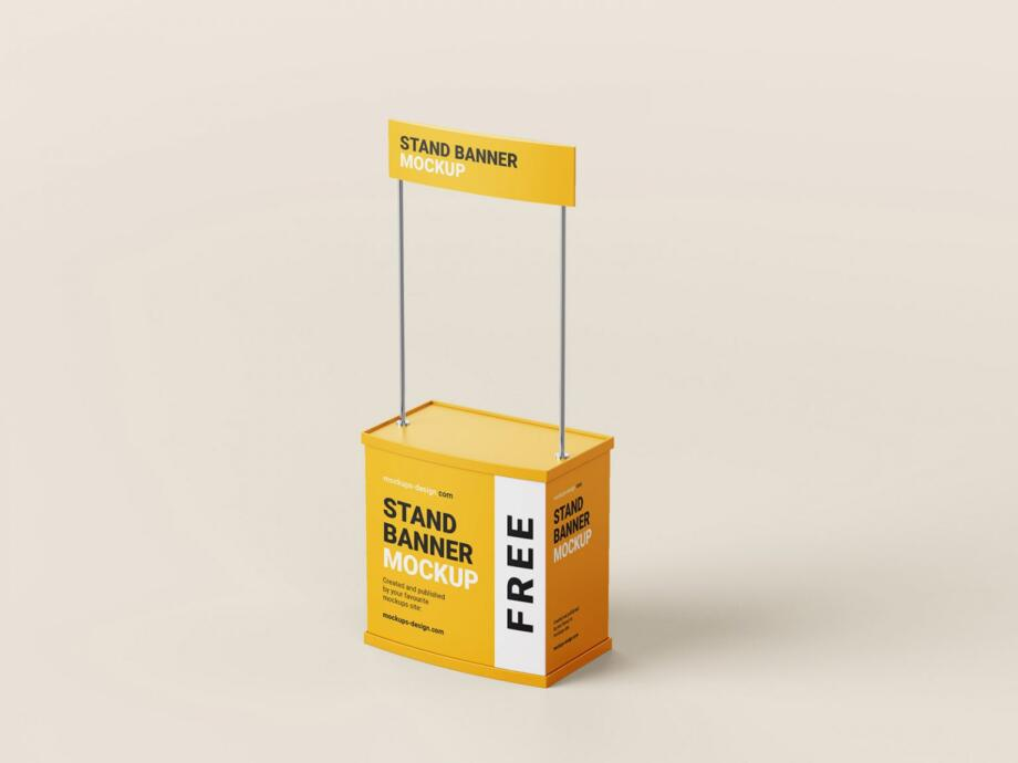 Free Trade Stand Mockup PSD Template