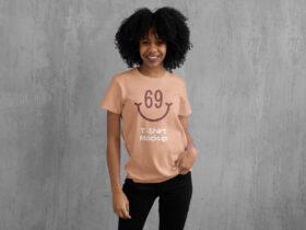 Free Women T-Shirt Mockup PSD Template
