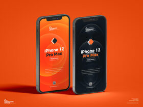 Free iPhone 12 Pro Max Mockup PSD Template