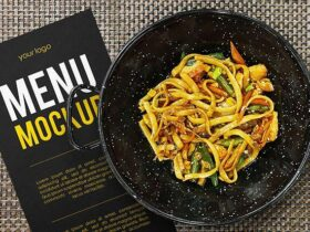 Free Restaurant Menu Concept Mockup PSD Template