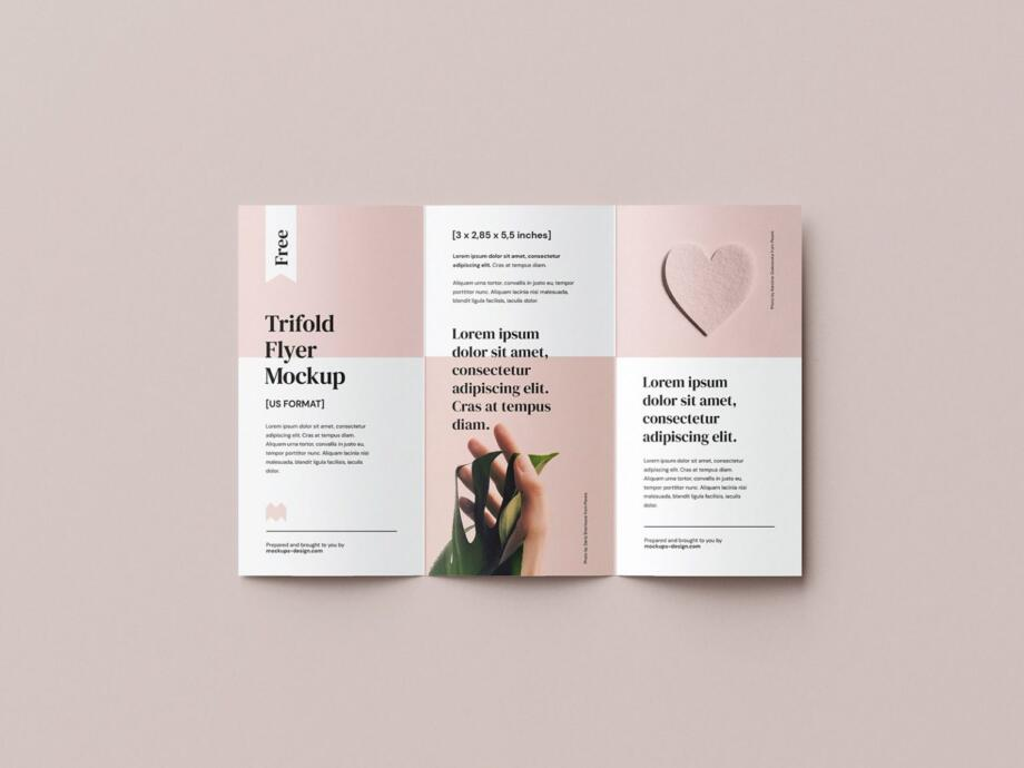 Free 2,85x5,5 in Flyer Mockup PSD Template
