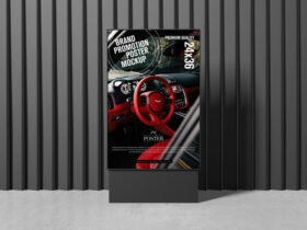 Free Brand Promotion Poster Mockup PSD Template