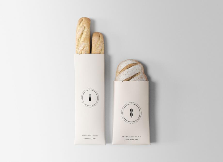 Free Bread Packaging Mockup PSD Template