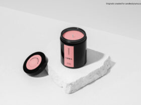 Free Candle Mockup PSD Template
