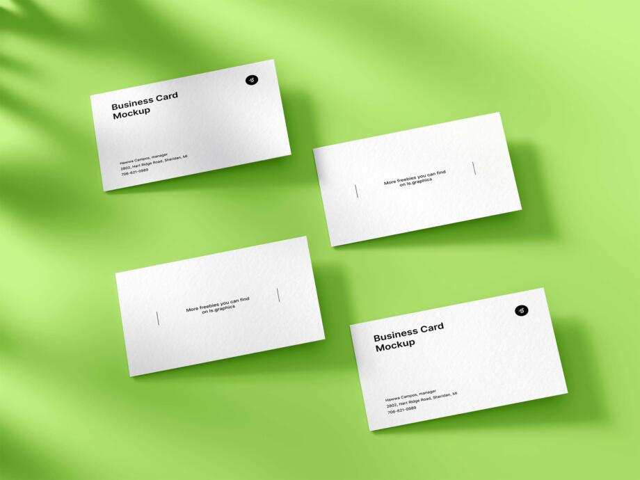 Free Classic Business Card Mockup PSD Template