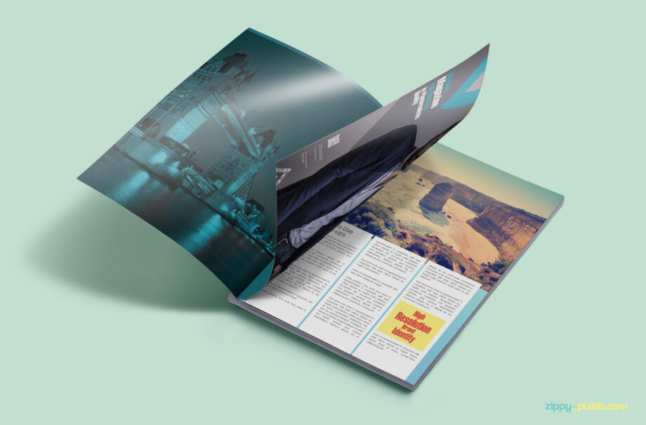 Free Customizable Magazine Ad PSD Mockup Template