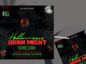 Free Dark Night Halloween Instagram Banner PSD