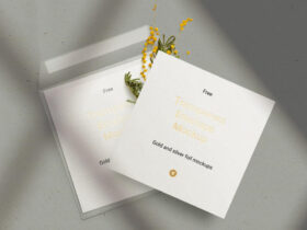 Free Envelope & Card Mockup PSD Template