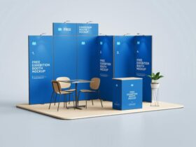Free Exhibition Booth Mockup PSD Template