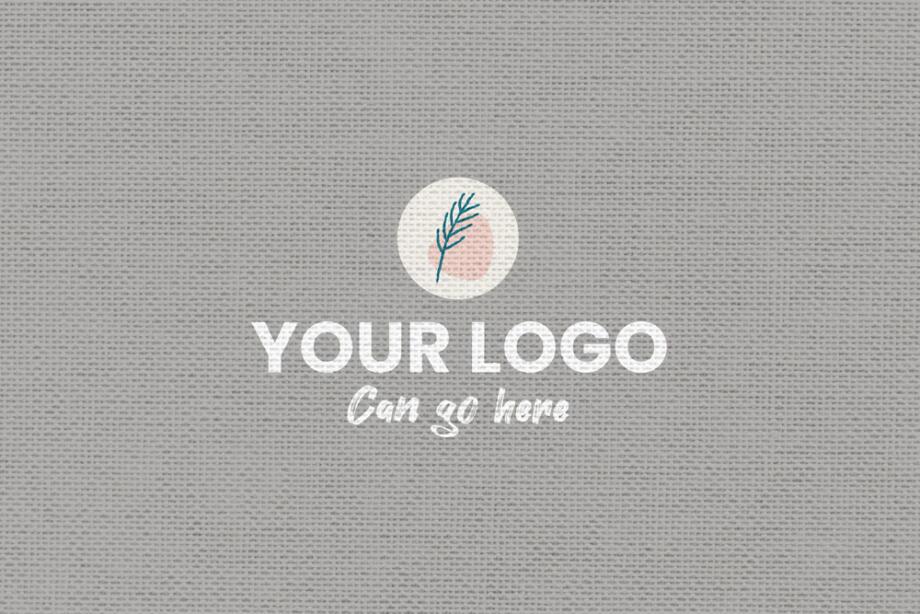 Free Fabric Textile Logo Mockup PSD Template