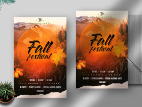 Free Fall Festival Flyer PSD Template