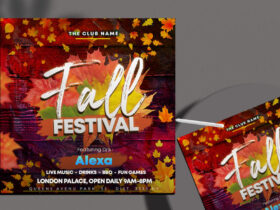 Free Fall Festival Instagram Banner PSD Template