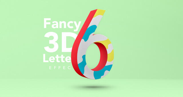 Free Fancy 3D Letter Text Effect Mockup PSD Template