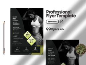 Free Fat Burns Fitness Flyer PSD Template