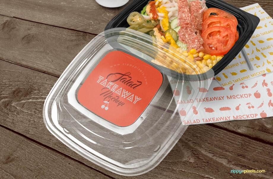 Free Food Box Branding Mockup PSD Template