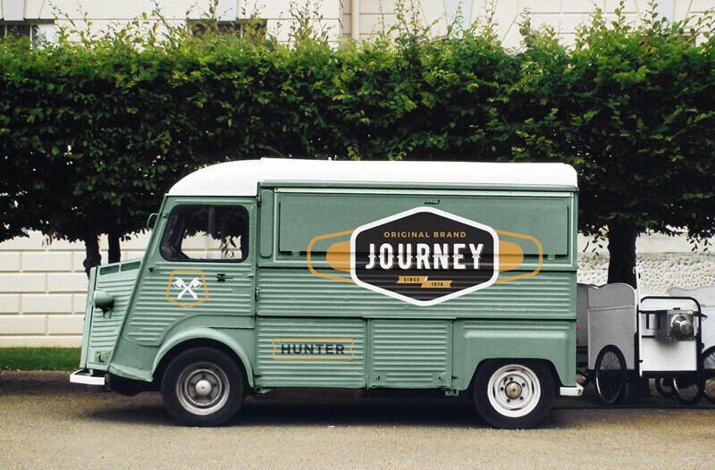 Free Food Truck Mockup PSD Template