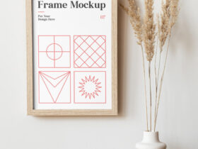 Free Frame on the Wall Mockup PSD Template